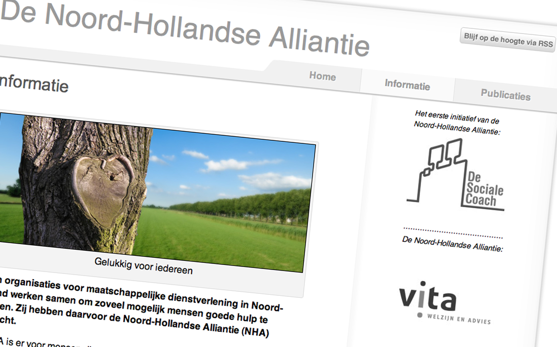 Website Noord Hollandse Alliantie