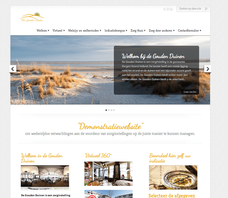 Website: Gouden Duinen