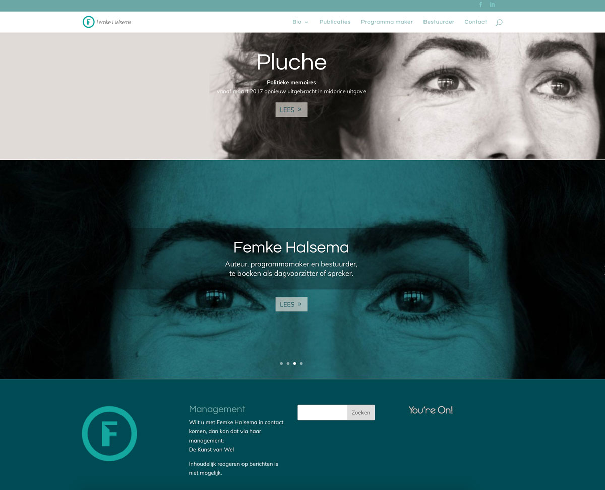 Femke Halsema website door You're On!