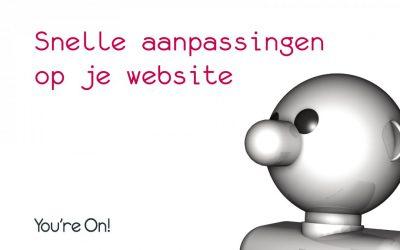 Snelle aanpassingen op je website